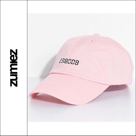 02d9089ed Zumiez 2318008 BOOBIES Pink Black Baseball Hat Cap NWT